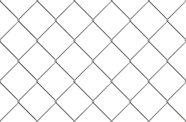 Wire fence (cyclone fencing) in repeating patterns Photo