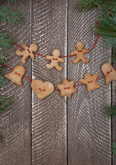 Chain made of ginger bread cookies