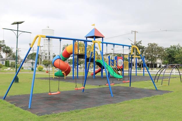 Chain swings on kids playground