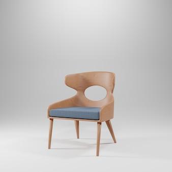 의자와 회색 배경