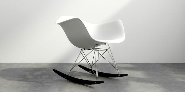 白い部屋の椅子