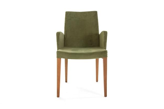 의자 실내 녹색 라이프 스타일 흰색 배경