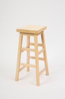 Chair and white background viewed from diagonally forward