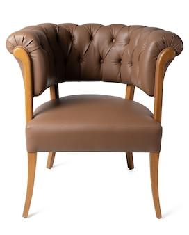 白で隔離されるキャリッジカプラーが付いている椅子