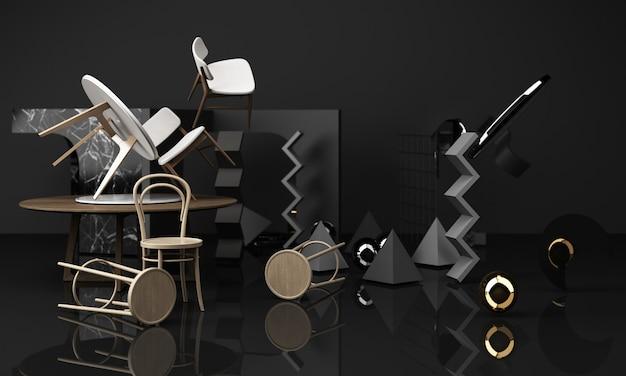 椅子とコーヒーテーブルの木の質感