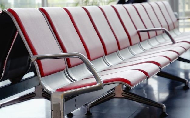 空港の椅子