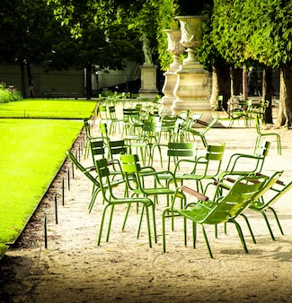 Chairs at the gardens in paris
