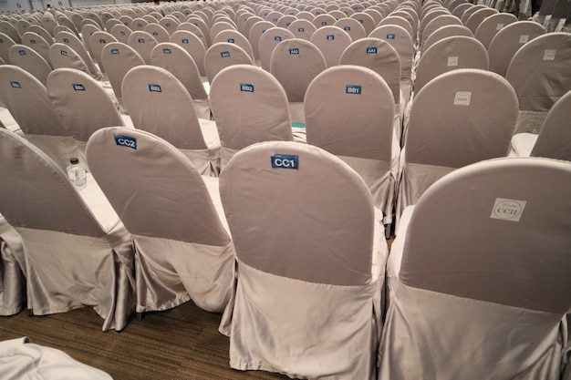 Chairs in meeting room hall.