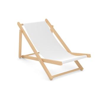 Chaise lounge wooden beach lounger