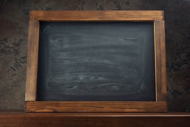 Chalk board on the table