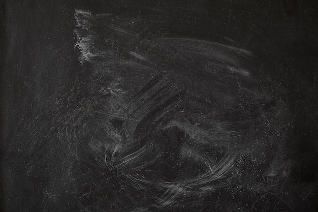 Chalk stains on a blackboard in the middle