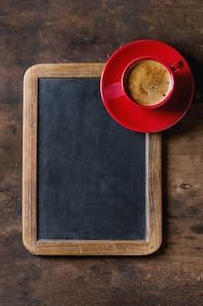 Chalkboard and coffee