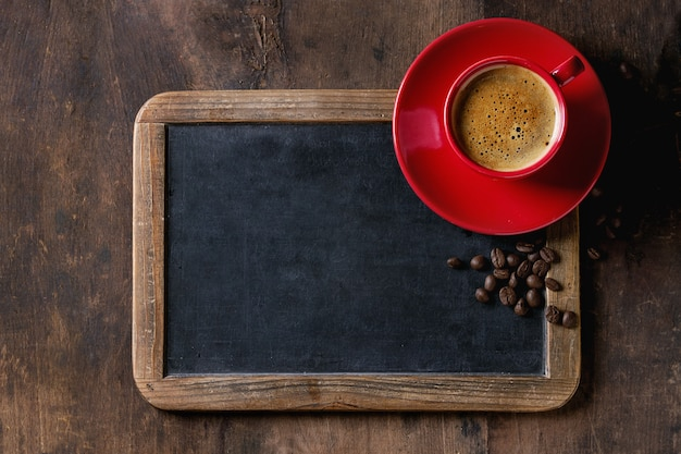 Chalkboard and coffee