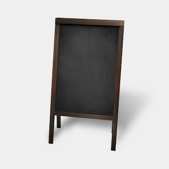 Chalkboard sign with copy space for restaurant