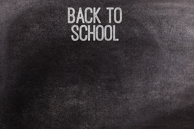 Chalkboard with the text back to school