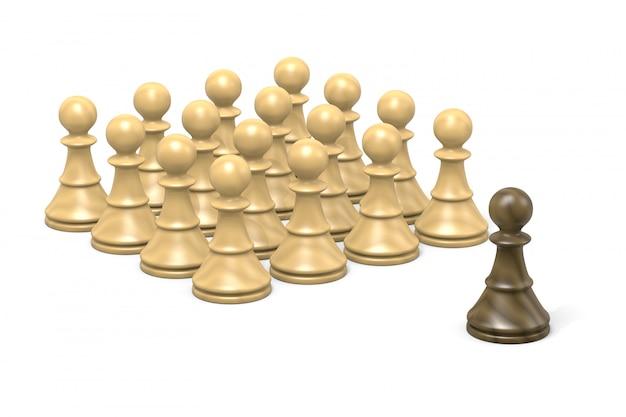 Challenge, chess pawns
