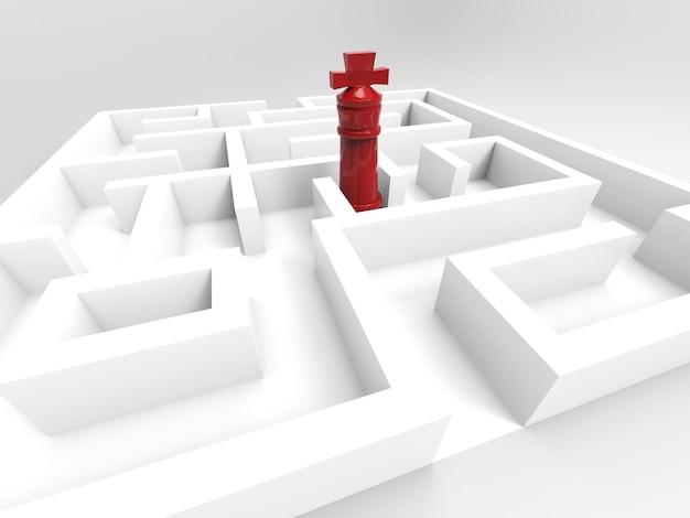 Концепция вызова с шахматным королем в лабиринте