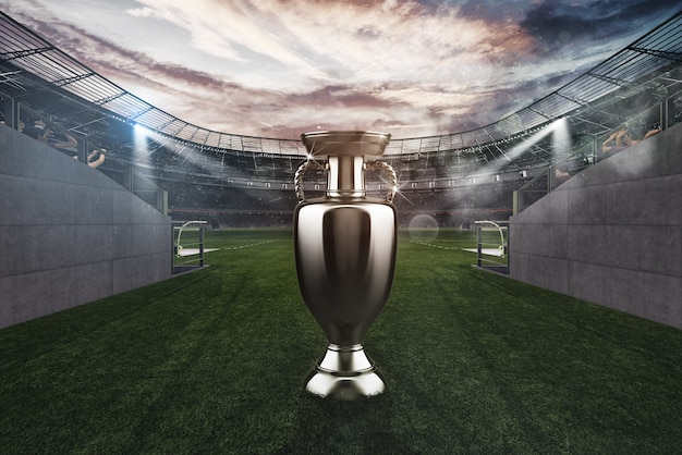 Challenge for the conquest of the cup in a soccer game