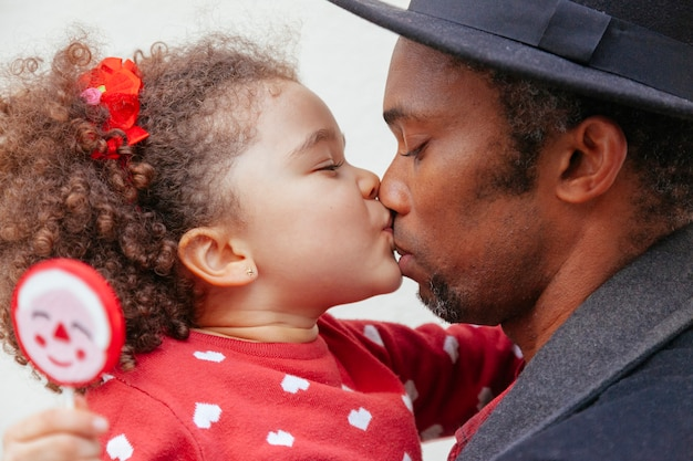Challenged single dad raising a healthy daughter