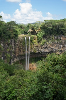 Chamarel waterfall on the river du cap