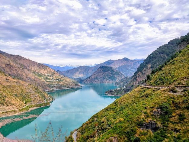 Chamera lake in dalhousie himachal india lake in a mountain