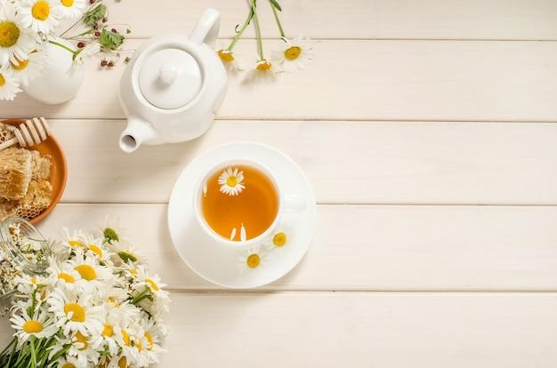 Chamomile and honey tea