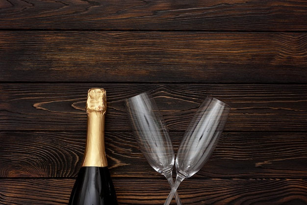 Champagne as new year symbol