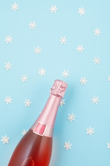 Champagne bottle with confetti