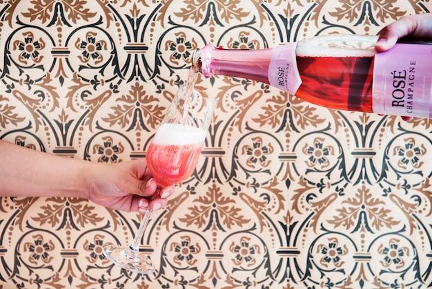 Champagne celebration concept