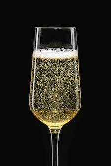 Champagne in a flute glass