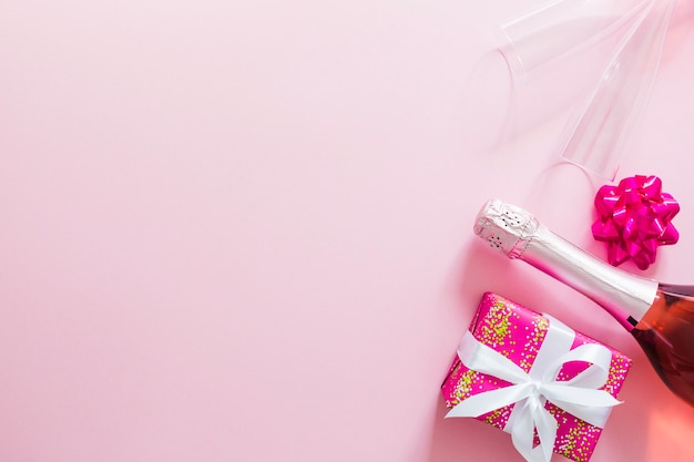 Champagne and giftbox
