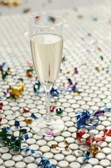Champagne in bicchiere
