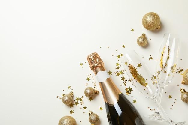 Champagne and glitter