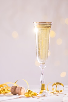 Champagne ready to bring in the new year, christmas card, christmas