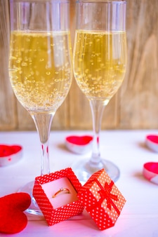 Champagne for valentine's day
