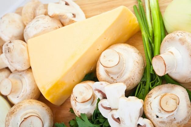 Шампиньон-гриб с сыром