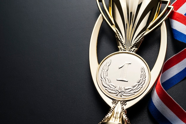 Championship gold trophy for the winner