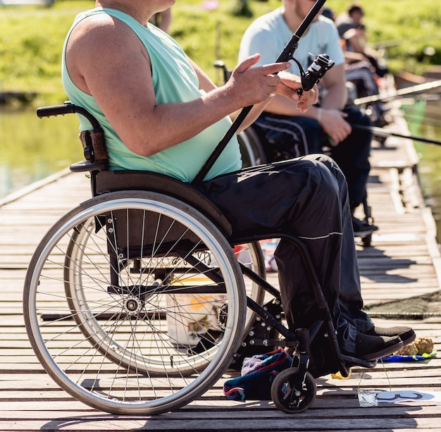 Championship in sports fishing among people with disabilities
