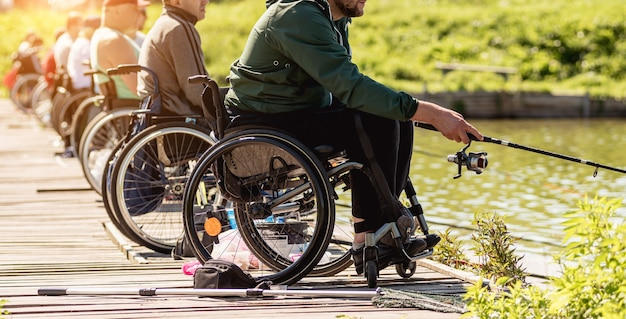 Championship in sports fishing among people with disabilities.