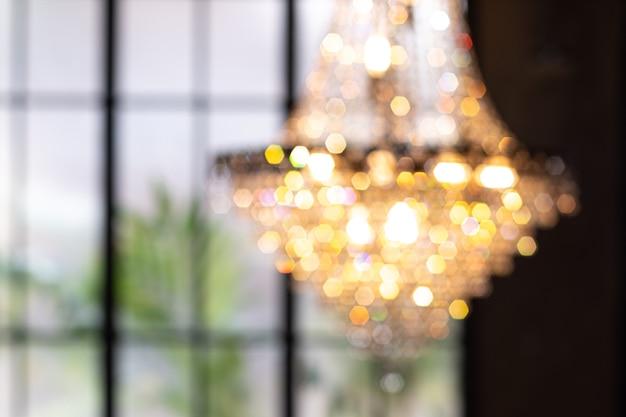 Chandelier with bokeh. hanging chandelier lights