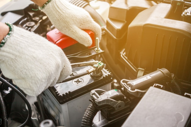 Change battery on car