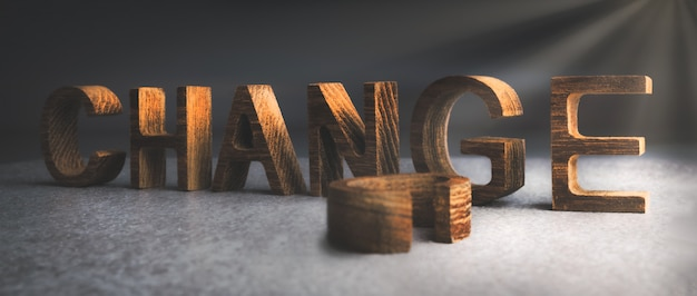 Change text on wooden texture