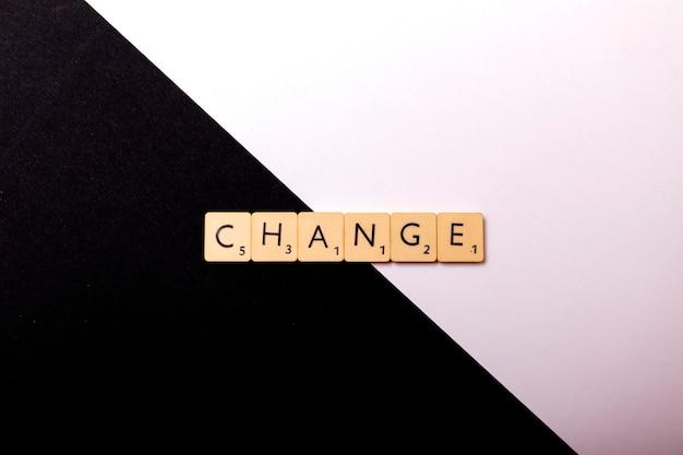 Change word written in plastic cube