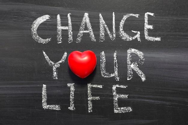 Измените свою жизненную фразу, написанную от руки на школьной доске