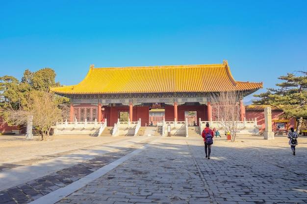 Гробница чанлин гробниц династии мин в городе пекин, китай.