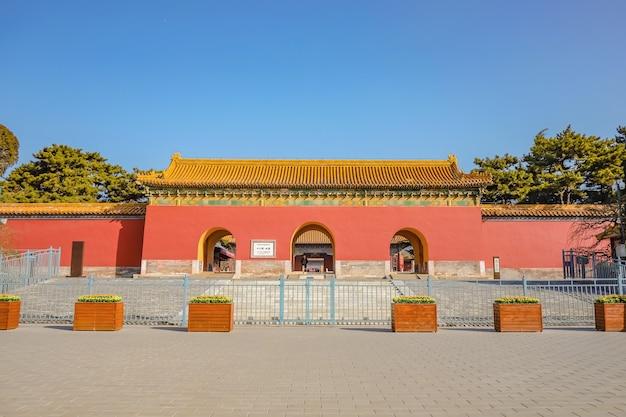 Гробница чанлин входные ворота гробниц династии мин в городе пекин, китай.