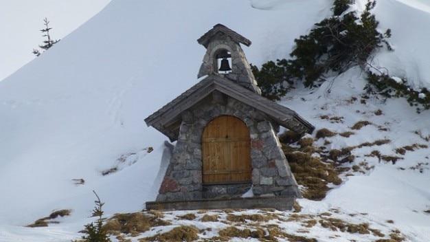 Chapel grn winter tyrol snow tannheim sonnenalm