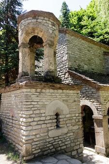 Chapel of st. zabulon and sosana and house st. nino's spring in monastery of st. nino at bodbe. sighnaghi, kakheti, georgia