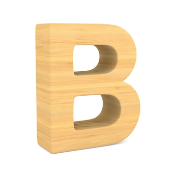 Character b on white space. isolated 3d illustration