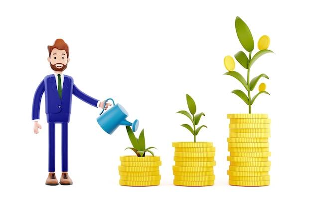 キャラクタービジネスマン投資家、資本乗算の概念